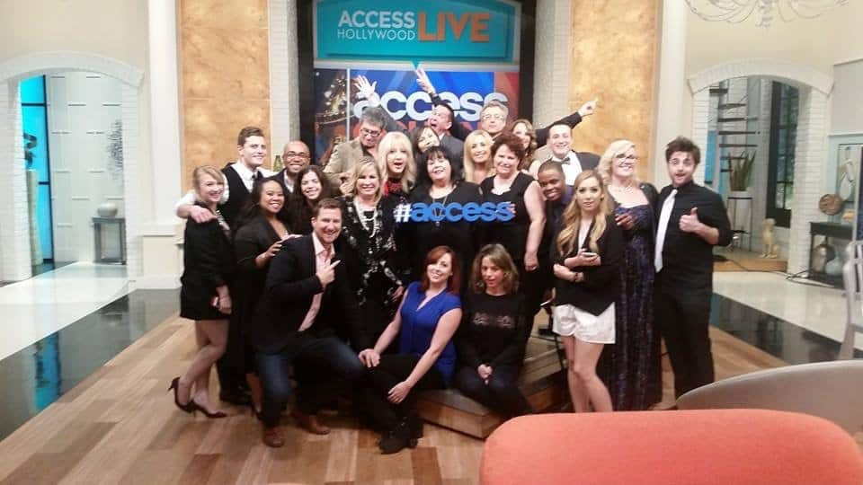 2015 Golden Globes Social Media Team for Access Hollywood